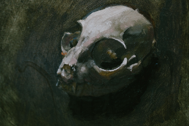 Matthew Gordon animal skull painting