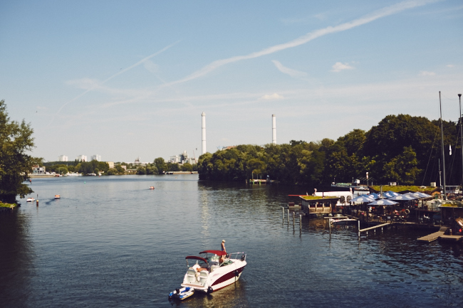 Berlin Treptow Park River Boats